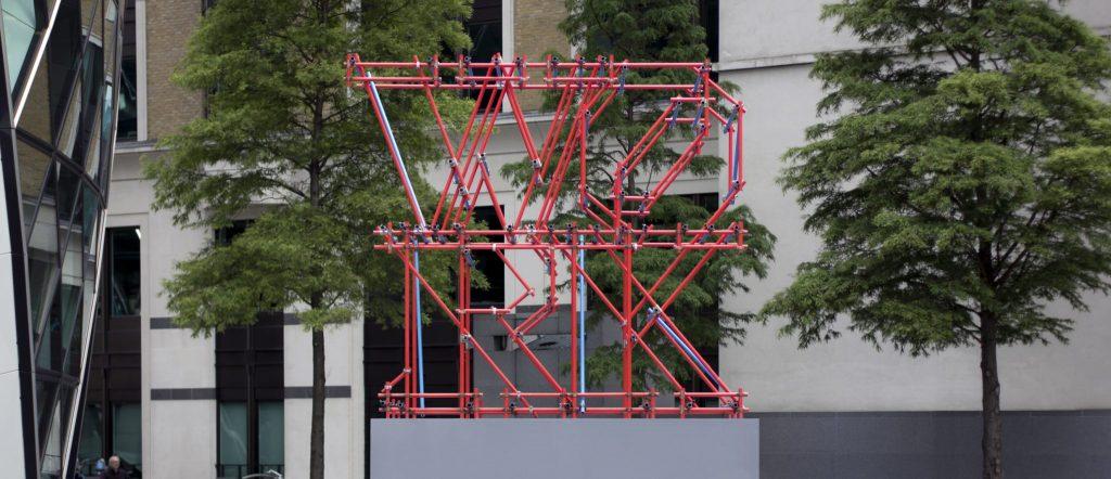 Work Scaffolding Sculpture